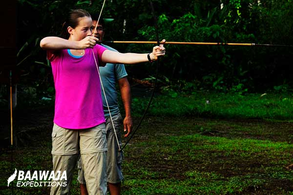 Bow and arrow shot