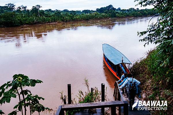 Sailing the Tambopata River